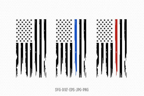 usa flag svg, Fireman Distressed Flag Svg, Thin Blue Line usa flag svg, 4th of July Svg, American flag Svg, Cricut Silhouette Cut File svg