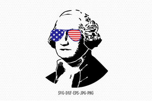 George Washington svg, usa Presidents, Merica svg, Fourth of July SVG, 4th of July Svg, Patriotic SVG, Cricut Silhouette Cut File svg dxf