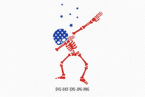 usa Dabbing skeleton SVG, Fourth of July SVG, 4th of July Svg, Patriotic SVG, Merica svg, America usa Svg Files svg jpg png dxf