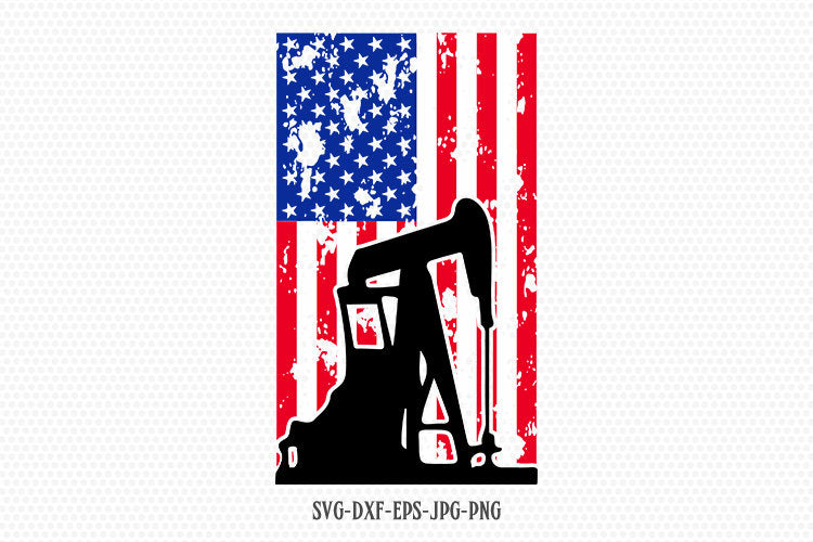 oil field usa flag svg , Oil Rig svg, American Flag, Fourth of July SVG, 4th of July Svg, Patriotic SVG, Cricut Silhouette Cut File svg dxf