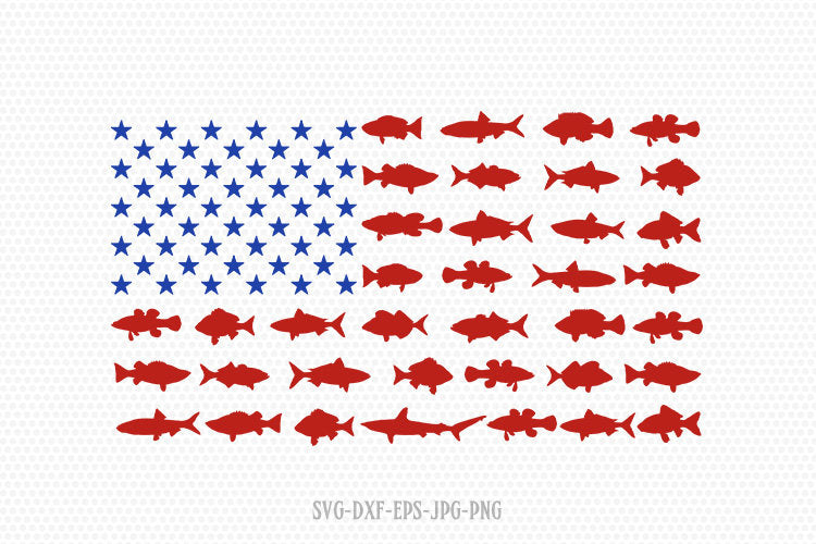 Usa fishing flag svg, Fishing svg, Bass svg, Fishing Clipart, Fish lover svg, Cricut, Silhouette Cut File, svg dxf