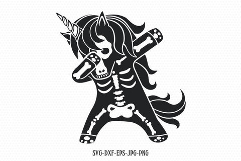 Dabbing unicorn svg, halloween unicorn svg, skeleton unicorn svg, unicorn svg, unicorn birthday svg, svg for Cricut Silhouette Cut File