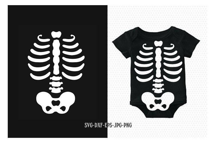 Skeleton SVG, halloween skeleton baby costume svg, halloween svg, skeleton torso Svg, CriCut Files svg jpg png dxf Silhouette cameo