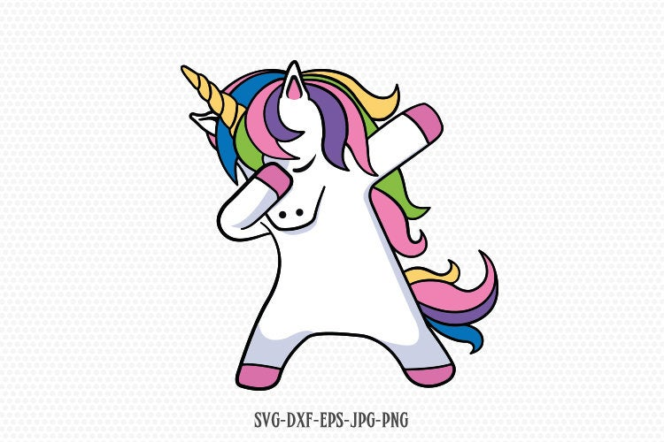 Dabbing unicorn svg, unicorn svg, unicorn birthday svg, Magical unicorn svg,, unicorn face svg, Cricut, Silhouette Cut File, SVG DXF EPS