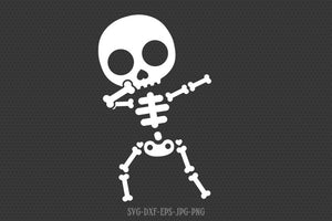 Cute dabbing skeleton SVG, skeleton svg, halloween skeleton svg, Halloween Svg ,CriCut Files svg jpg png dxf Silhouette cameo