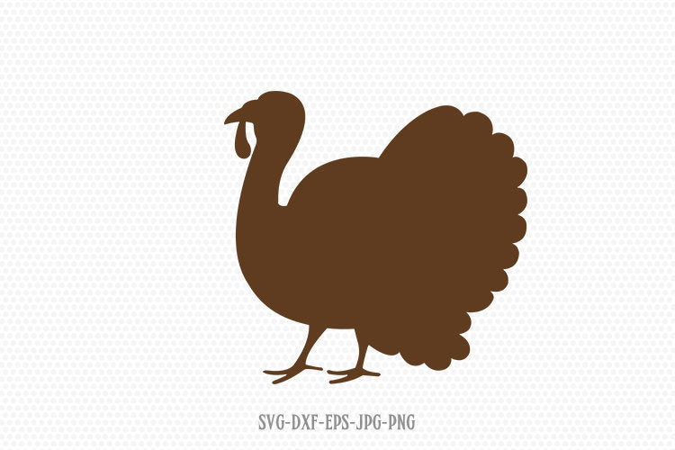 Thanksgiving turkey svg, Thanksgiving svg, turkey silhouette, turkey clipart svg, for Cricut Silhouette svg png dxf
