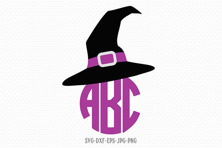 Witch hat svg, halloween svg, witch svg, Fall SVG, hocus pocus SVG, Halloween Svg, Fall Svg ,CriCut Files svg jpg png dxf Silhouette cameo