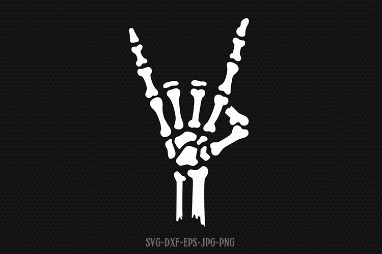 Skeleton love hand sign, skeleton hand svg, halloween skeleton svg, skeleton svg, Halloween Svg ,CriCut Files svg jpg png dxf Silhouette