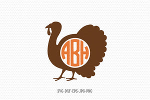 turkey monogram svg, Thanksgiving svg, thanksgiving turkey, turkey silhouette, turkey clipart svg, for Cricut Silhouette svg png dxf