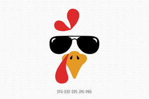 Coolest turkey in the town, funny turkey svg, Thanksgiving turkey svg, Thanksgiving svg, turkey svg, for Cricut Silhouette svg png dxf