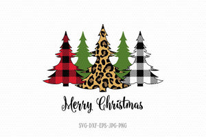 Christmas trees svg, Leopard Print Svg, christmas sublimation SVG, Merry Christmas SVG, Cutting File CriCut Files svg jpg png dxf Silhouette