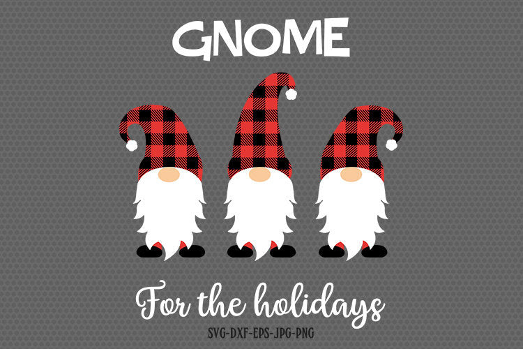 Gnome for the holidays, Gnome SVG, Christmas Gnomes Svg, Christmas svg, SVG Cutting File for CriCut Silhouette, svg dxf png jpg eps