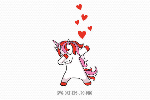 valentines day unicorn svg, dabbing unicorn svg, unicorn svg, valentine svg, valentines Day SVG, CriCut Files svg jpg png dxf Silhouette
