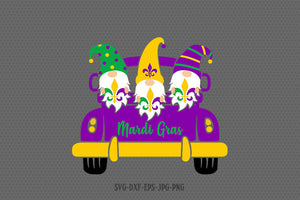 mardi gras gnomes truck svg, mardi gras svg, happy mardi gras, Louisiana Mardi Gras svg, Files svg jpg png dxf Silhouette