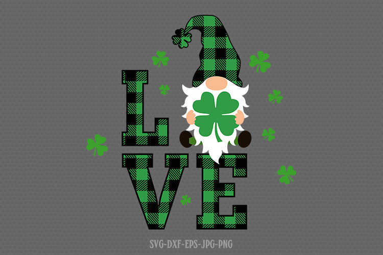 st patricks day gnomes love svg, gnomes svg, st patricks day gnome svg, st patricks day svg, svg for CriCut silhouette, svg jpg png dxf
