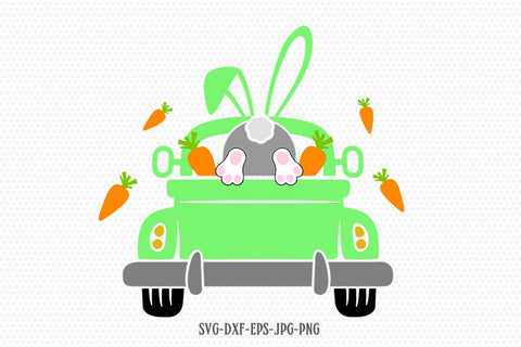 Easter truck Svg, Easter rabbit svg, Easter Truck svg, Easter bunny svg, svg files for cricut and silhouette, jpg png dxf eps