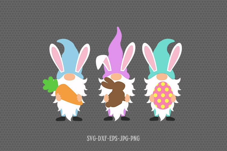 Easter gnomes svg, easter gnome svg, Easter svg, happy easter svg, svg files for cricut and silhouette, jpg png dxf