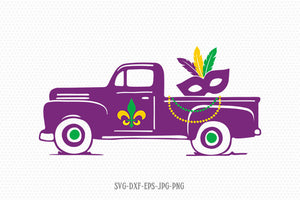 mardi gras truck svg, mardi gras svg, happy mardi gras, mardi gras mask svg, Louisiana Mardi Gras svg, Files svg jpg png dxf Silhouette