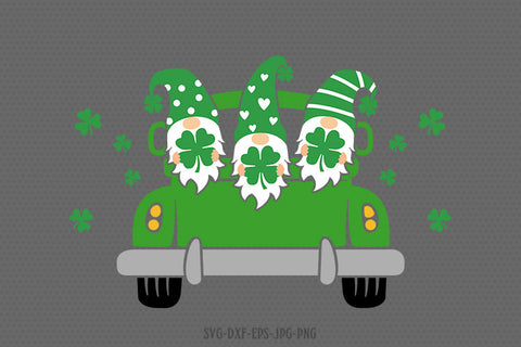 st patricks day gnomes truck svg, gnomes svg, st patricks day gnome svg, st patricks day svg, svg for CriCut silhouette, svg jpg png dxf