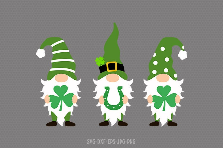st patricks day gnomes svg, gnomes svg, st patricks day gnome svg, st patricks day svg, svg for CriCut silhouette, svg jpg png dxf