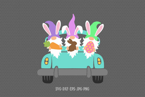 Easter gnomes svg, easter gnome svg, easter gnome truck svg, Easter svg, happy easter svg, svg files for cricut and silhouette, jpg png dxf