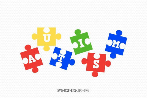 Autism Puzzle svg, Autism svg, Autism clipart, autism Awareness svg, svg Files for Cricut Silhouette svg jpg png dxf