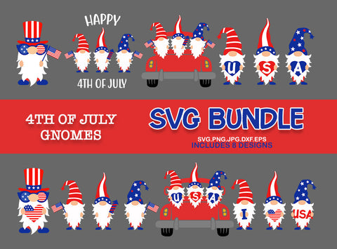 4th of July Gnomes svg, 4th of july Bundle svg, Patriotic Gnomes svg, gnomes svg, 4th july svg, svg for CriCut silhouette, svg jpg png dxf