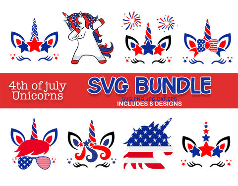 Mericorn svg, unicorn bundle svg, patriotic unicorn svg, 4th of July unicorn Svg, Patriotic SVG, svg for Cricut Silhouette