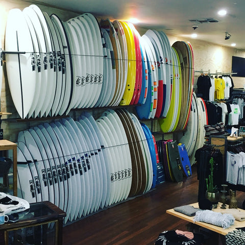 W.A's largest boardstore of JS Surfboards and Firewire Surfboards