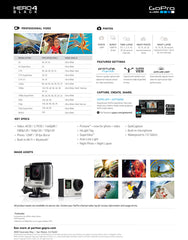Go Pro hero 4 black data sheet