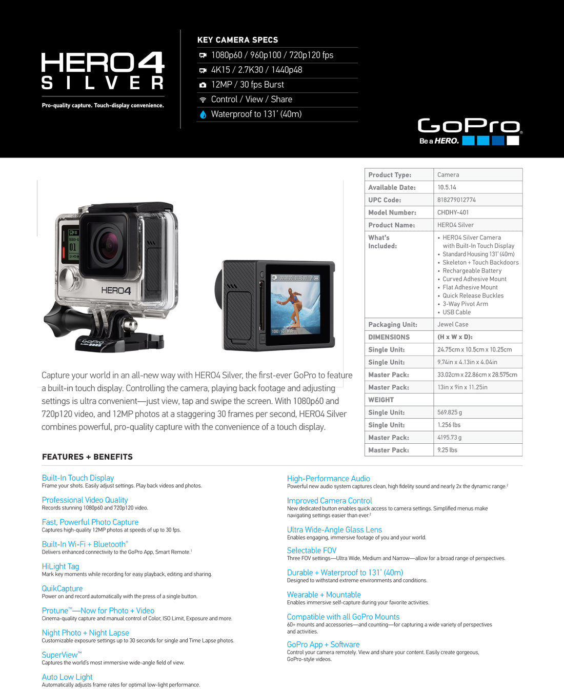 new gopro hero4 black edition instore now