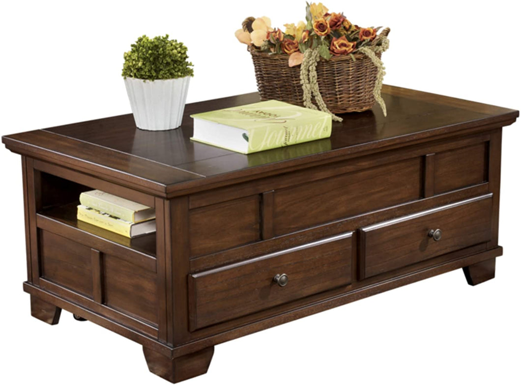 Signature Design by Ashley Gately Lift Top Cocktail Table Medium Brown