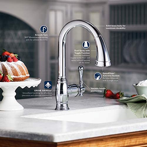 Kitchen Faucet with Dual Spray, SuperSteel Infinity Bridgeford