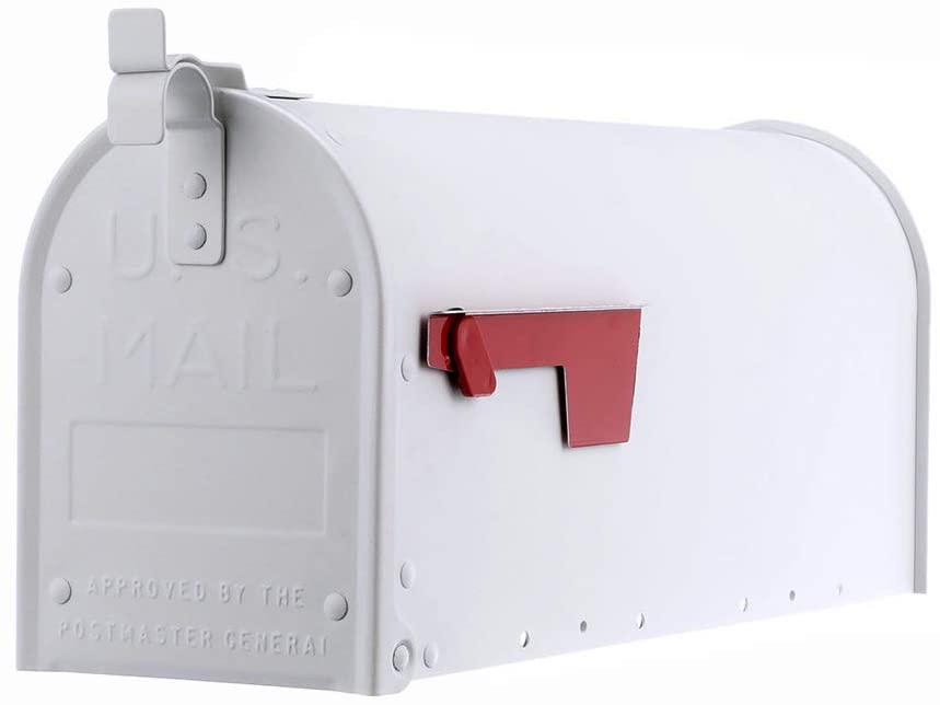 Mailbox White Gibraltar Admiral, Textured New in Box