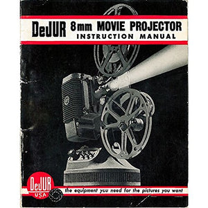 DeJur 8MM Movie Projector -Vintage from the 1950s