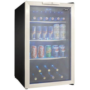 Danby 88 Can & 7 Bottle Stainless Steel Beverage Center
