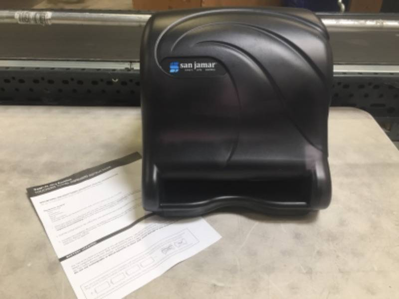 Paper Towel Dispenser - Black San Jamar T8490TBK Smart Essence Oceans