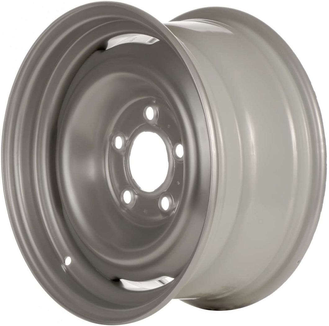 Multiple Manufactures STL01616U20 Silver Wheel with Painted and Meets All Federal Motor Safety Standards (15 x 7. inches /5 x 127 mm, 0 mm Offset)