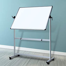 Load image into Gallery viewer, VIZ-PRO Double-Sided Magnetic Mobile Whiteboard, 48 x 36 Inches, Aluminium Frame and Stand