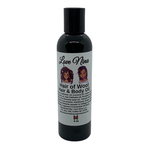 Hair of Wool Oil - Hair & Body (4 or 8oz) 100% Organic Oils - Emu Oil - Castor Oil - Deep Moisturizer - Hair Growth Oil - Beard Moisturizer