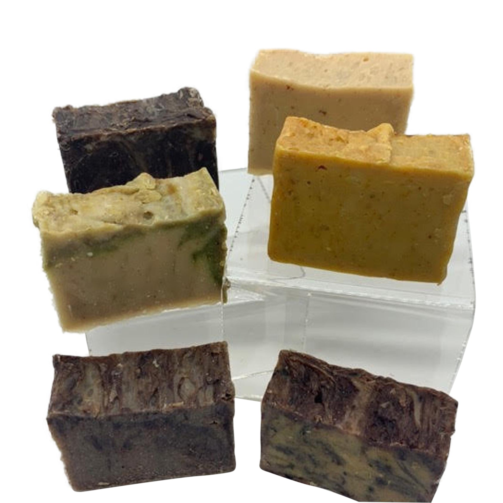 Soap Sample Set (6) 2 oz Bars! All Soaps Made with Fermented Rice Water, Goat Milk, Honey, Oatmeal, MSM, Magnesium & Zinc. Helps with Acne! See Before and After Pictures!