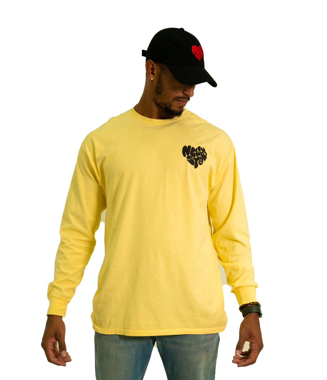 More love long sleeve - Yellow