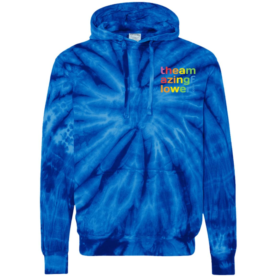 Logo-Embroidered Square Tie-Dyed Pullover Hoodie