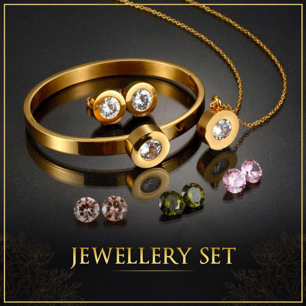 High Quality Trendy Fashionable Jewelry Sets for Women in Dubai, UAE.