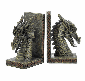 Mystical Dragon Decorative Heavy Bookends