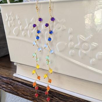 Rainbow Cascade Earrings