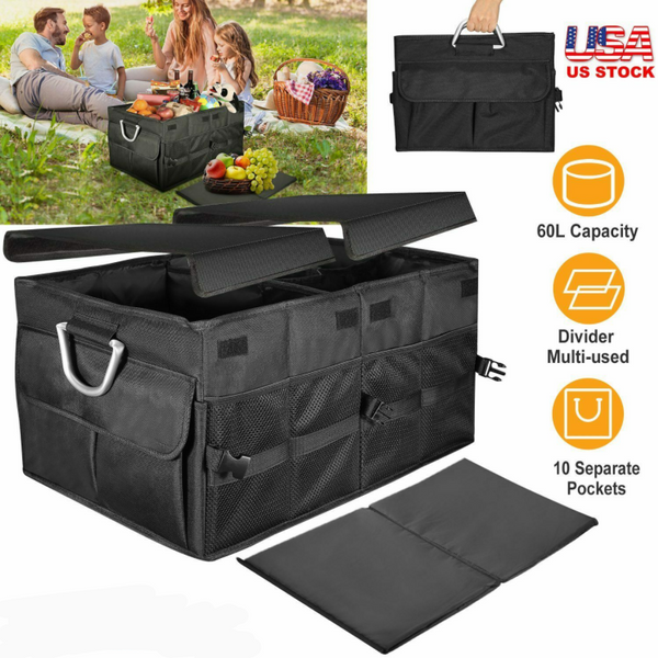 Trunk Cargo Collapsible Storage Caddy Organizer for Car and SUV