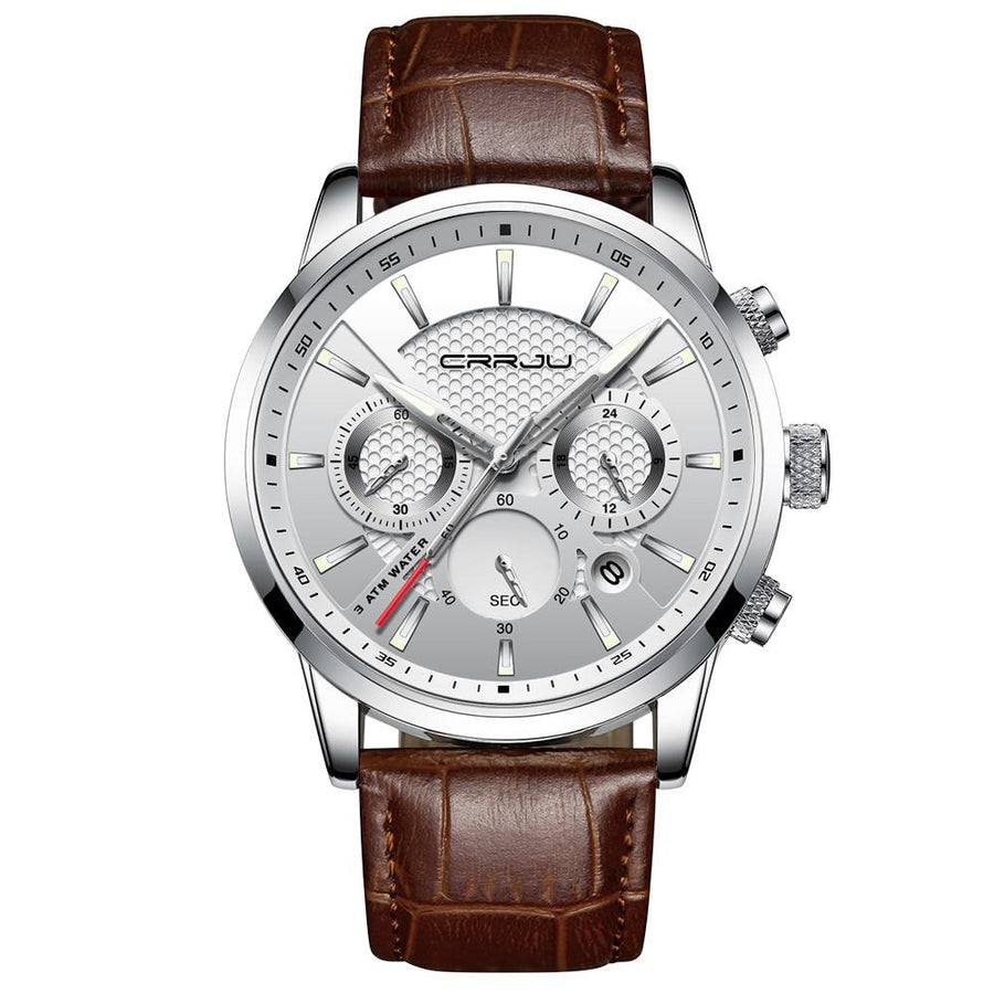 Crrju Leather Chronograph Sport - 42mm