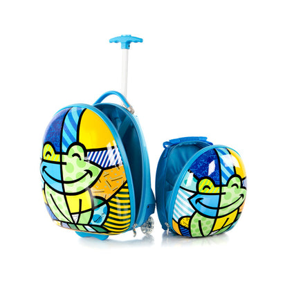 Britto for Kids - Luggage and Backpack Set - Frog