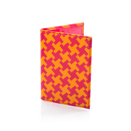 Basketweave Passport Holder